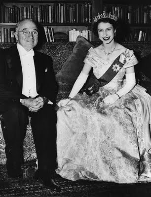 Queen Elizabeth II with Harry S Truman