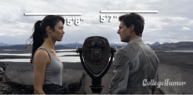 Tom Cruise With Olga Kurylenko in Oblivion