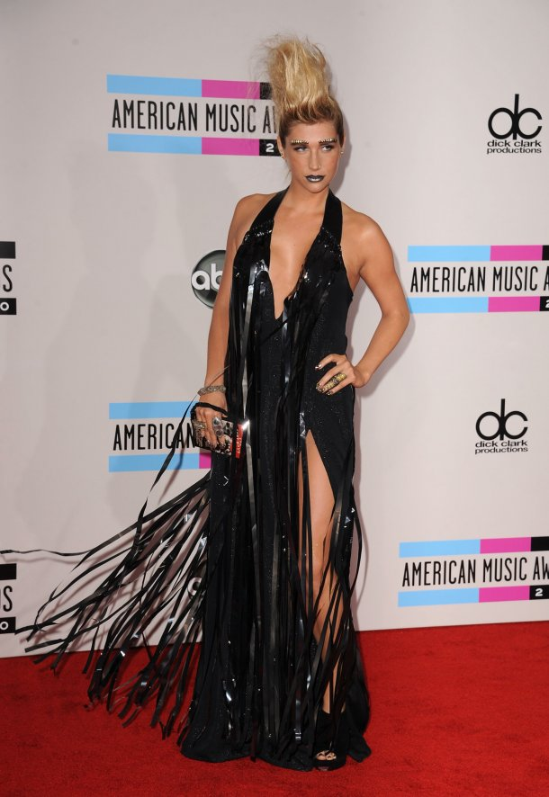 """There are plastic bags from """"American Beauty"""" (""""It's so beautiful…"""") and then there are plastic bags that Ke$ha wears to awards shows."""