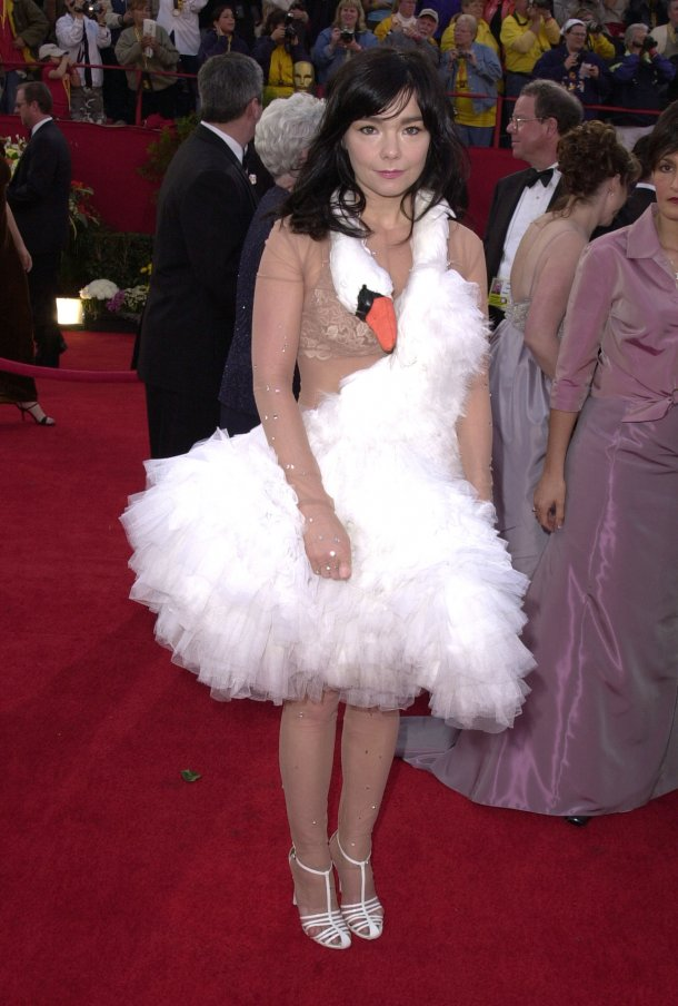 Bjork stole the entire Oscars ceremony with her swan dress. It even has its own Wikipedia page.