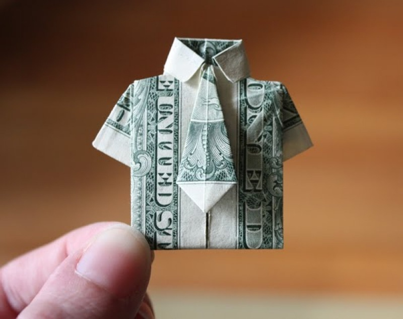 20 Cool Examples of Dollar Bill Origami (With images) | Money ... | 632x800