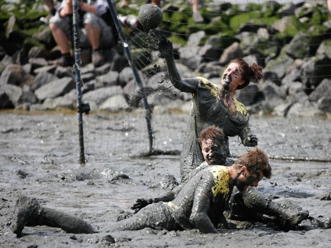 GERMANY-MUD-OLYMPICS-OFFBEAT