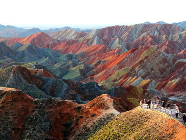 colorful Zhangye Danxia Landform in Gansu, China