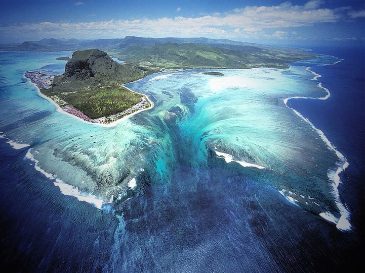 Aerial Illusion of an Underwater Waterfall 1