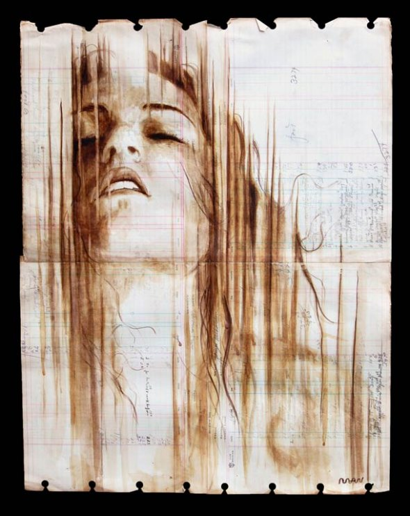 Portraits Painted with Coffee 1
