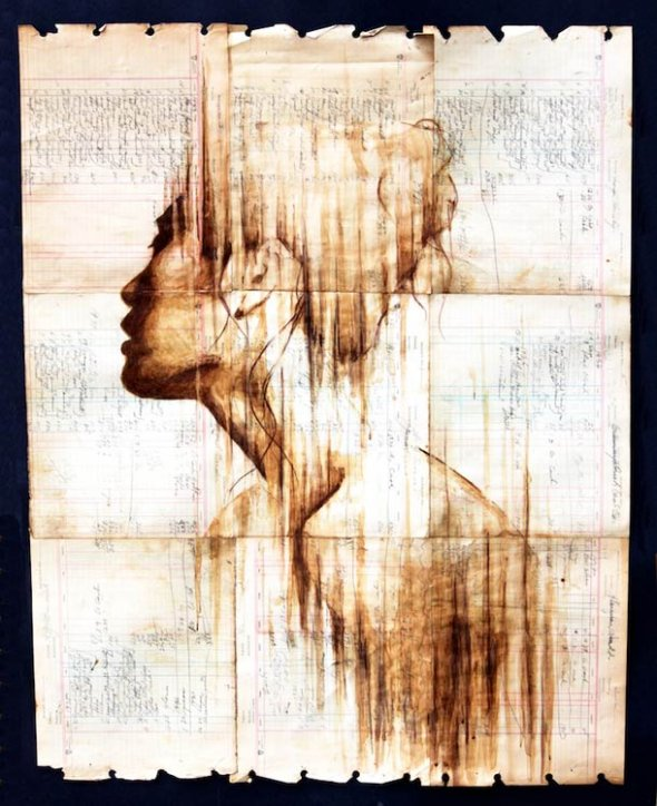 Portraits Painted with Coffee 11