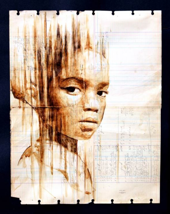 Portraits Painted with Coffee 12