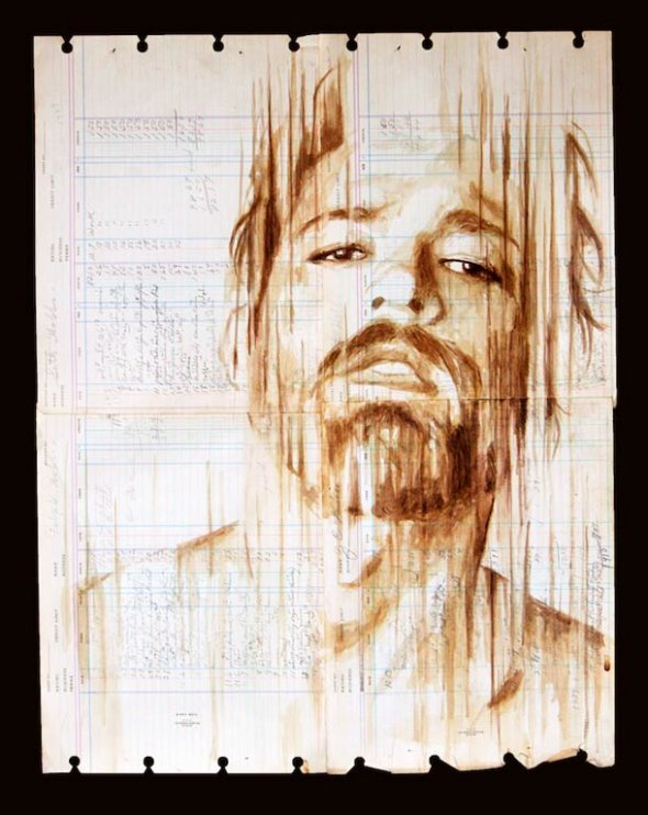 Portraits Painted with Coffee 13