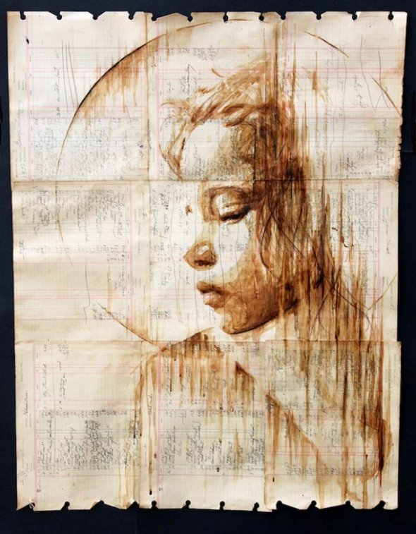Portraits Painted with Coffee 14