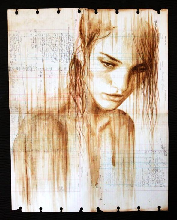 Portraits Painted with Coffee 3
