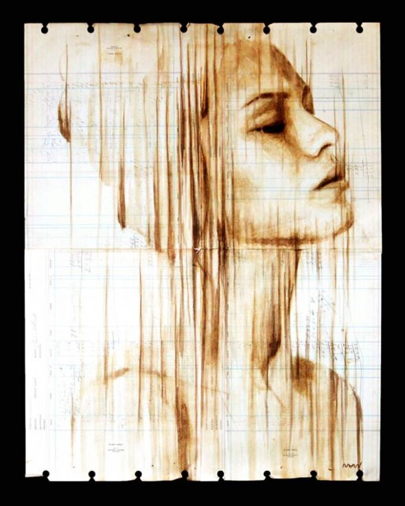 Portraits Painted with Coffee 4