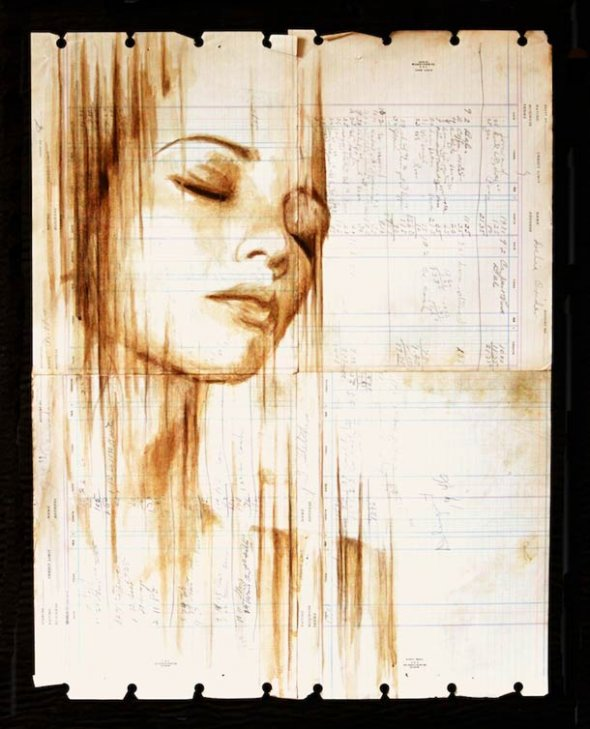 Portraits Painted with Coffee 6