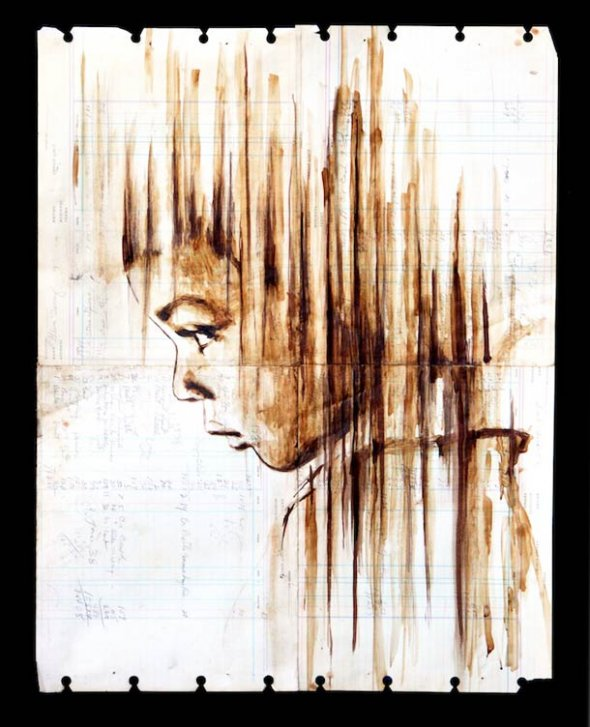 Portraits Painted with Coffee 7