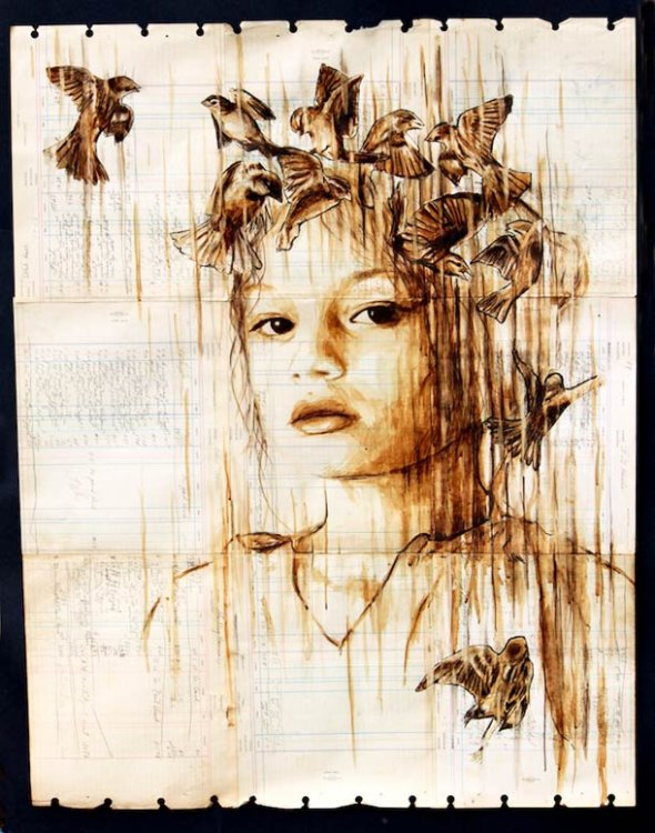 Portraits Painted with Coffee 8