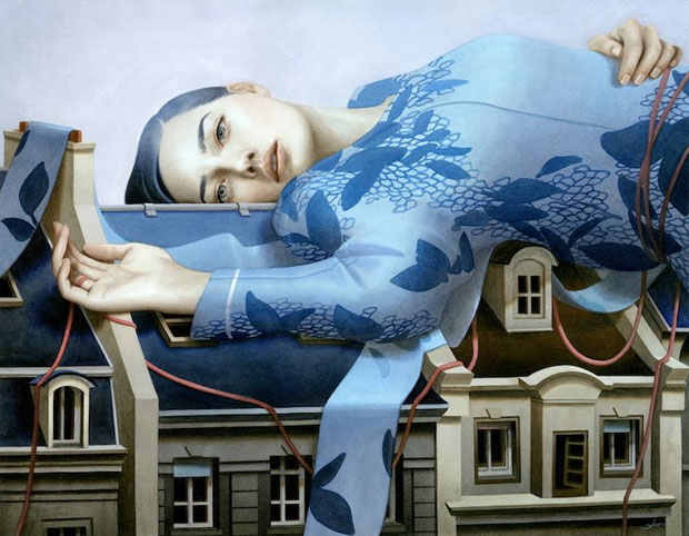Paintings of Women on Buildings by Tran Nguyen-2
