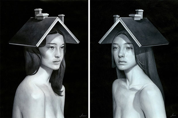 Paintings of Women on Buildings by Tran Nguyen-4