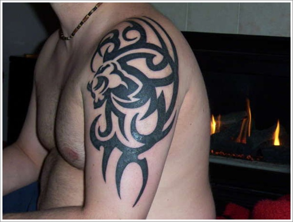 Tribal Lion Tattoo 17