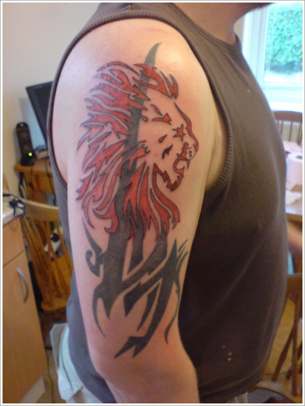 Tribal Lion Tattoo 18
