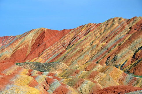 Zhangye-Danxia-landform-in-Gansu,-China-2