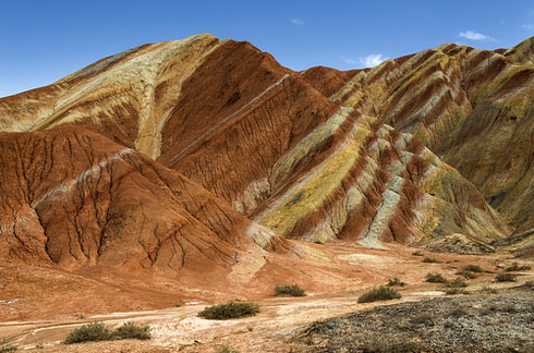 Zhangye-Danxia-landform-in-Gansu,-China-3