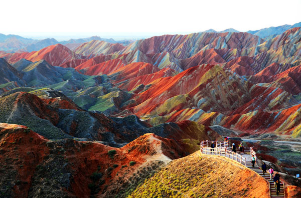 Zhangye-Danxia-landform-in-Gansu,-China