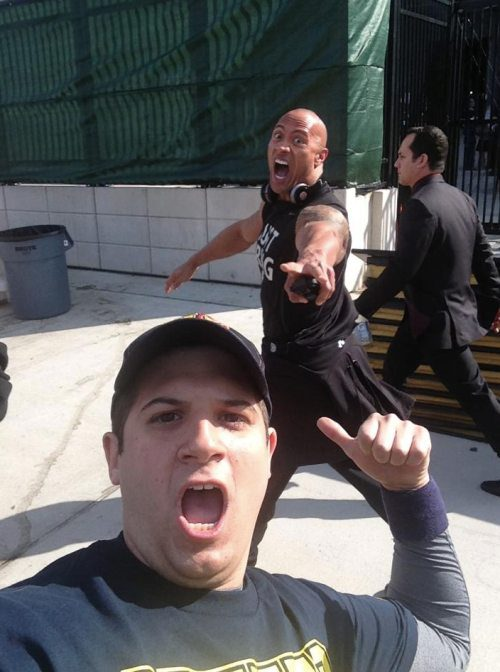 The Rock photobomb