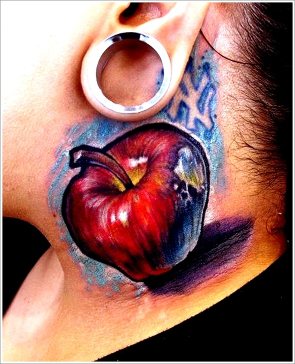 Apple Tattoo Designs 4