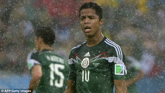 Giovani Dos Santos saw two seemingly fair goals disallowed during the first half
