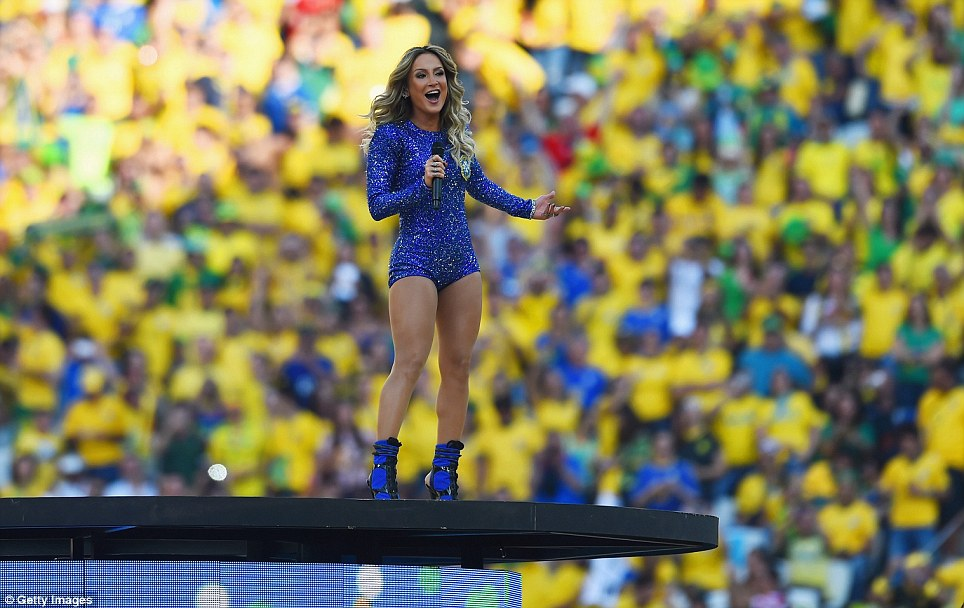 Singer Leitte performs during the opening ceremony