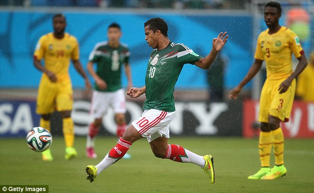 The Mexican striker shoots and scores but his goal was disallowed