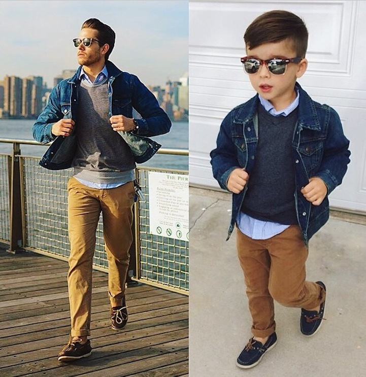 4-Year-Old Ryker dressed up as a fashion model