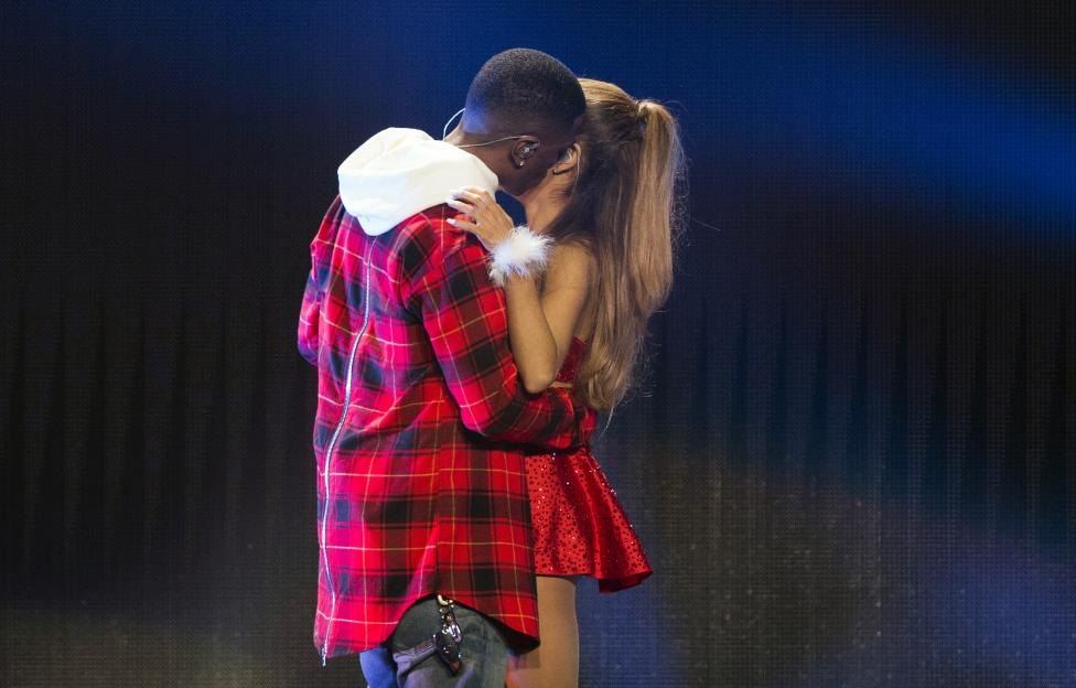 Singers Grande and Big Sean perform during KIIS FM's Jingle Ball 2014 at Staples Center in Los Angeles