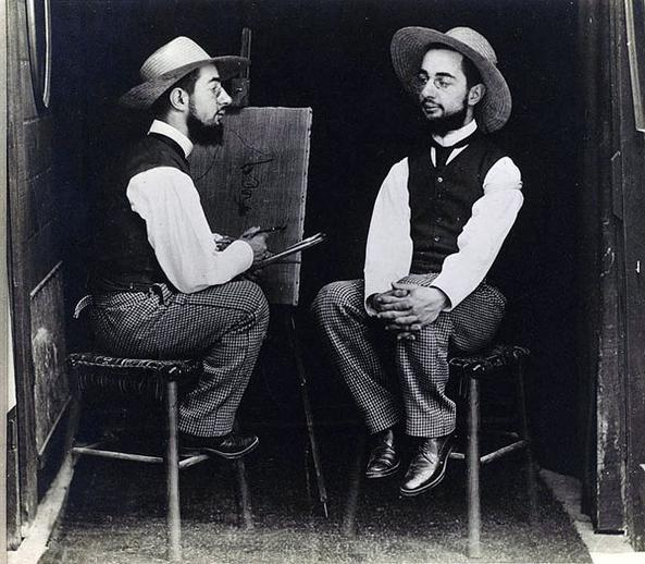 Henri de Toulouse-Lautrec as Artist and Model 1892