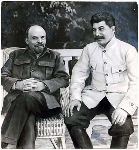 Lenin and Stalin in Gorky (1949)