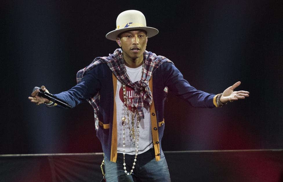 Recording artist Pharrell Williams performs during KIIS FM's Jingle Ball 2014 at Staples Center in Los Angeles