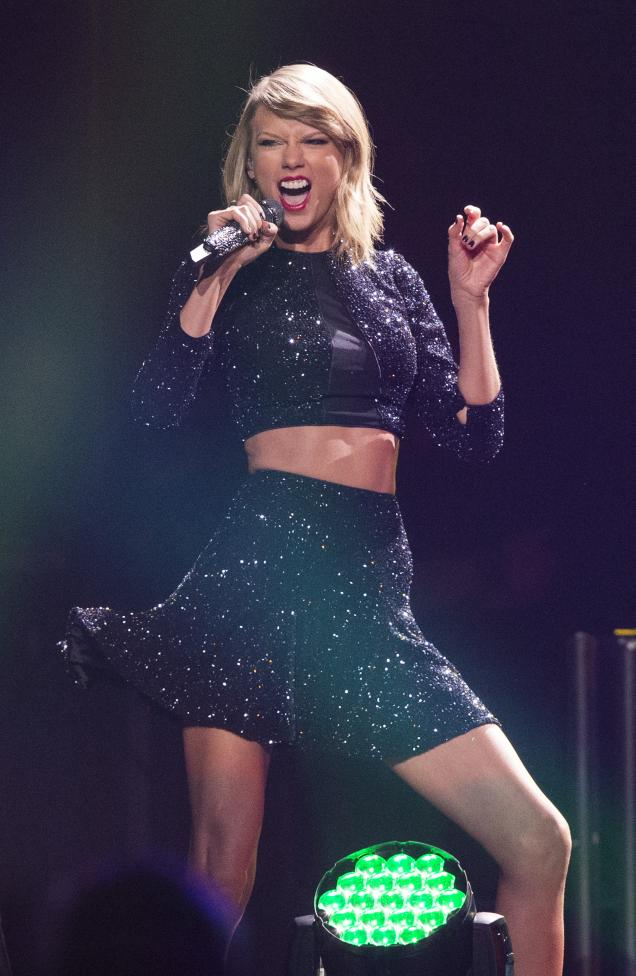 Recording artist Taylor Swift performs during KIIS FM's Jingle Ball 2014 at Staples Center in Los Angeles