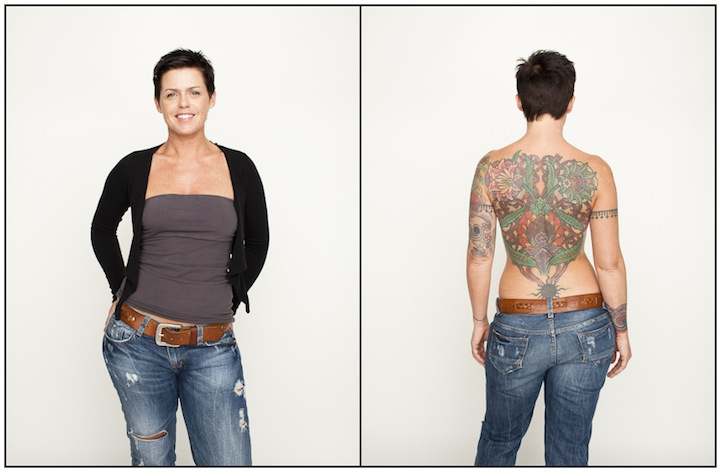 People Reveal Their Hidden Tattoos for Gorgeous Photo Project