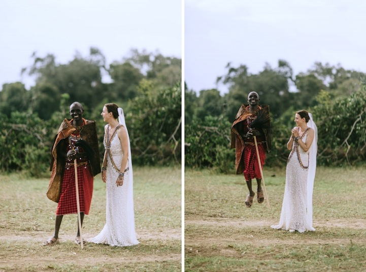 Maasai Tribe And Roaming Wildlife Attend A Gorgeous Wedding In Kenya - Maasai tribe wild animals attend wedding kenya