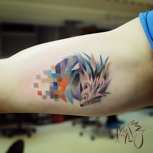 glitch animal tattoos by lesha lauz  1