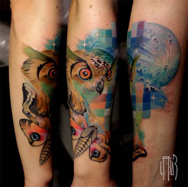 glitch animal tattoos by lesha lauz  10