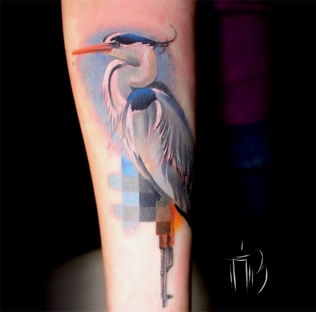 glitch animal tattoos by lesha lauz  11