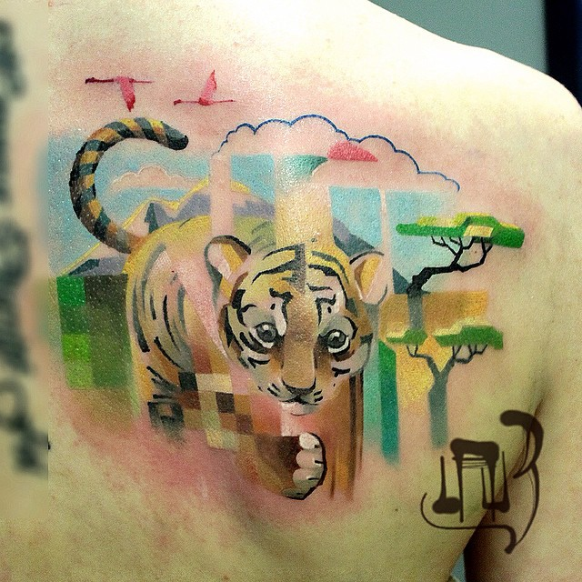 glitch animal tattoos by lesha lauz  2
