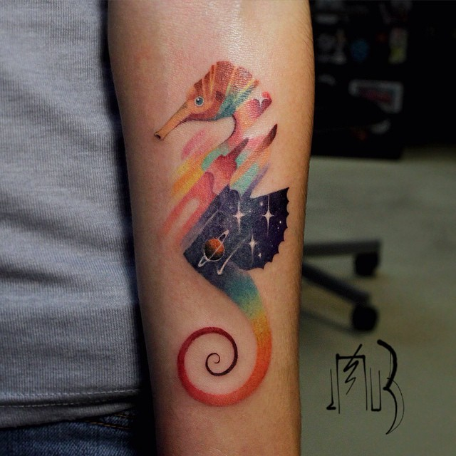 glitch animal tattoos by lesha lauz  4
