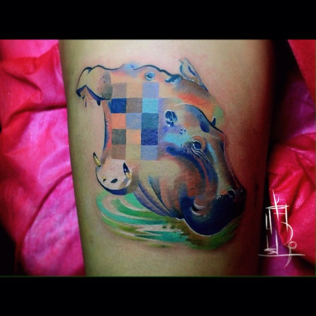 glitch animal tattoos by lesha lauz  7