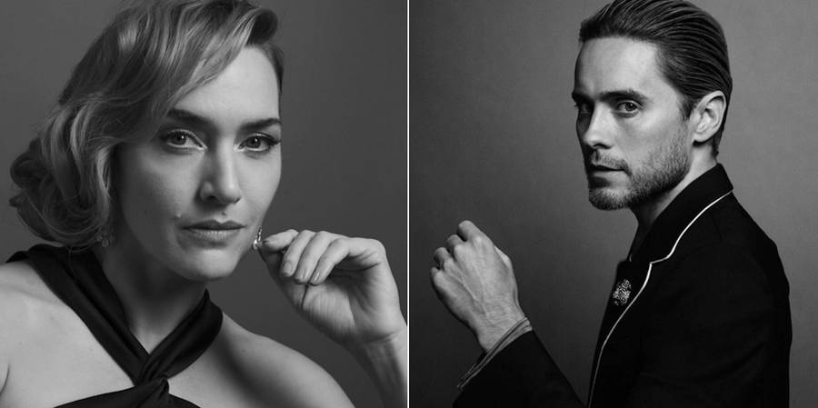 Black And White Portraits Of Celebrities At The Golden Globes