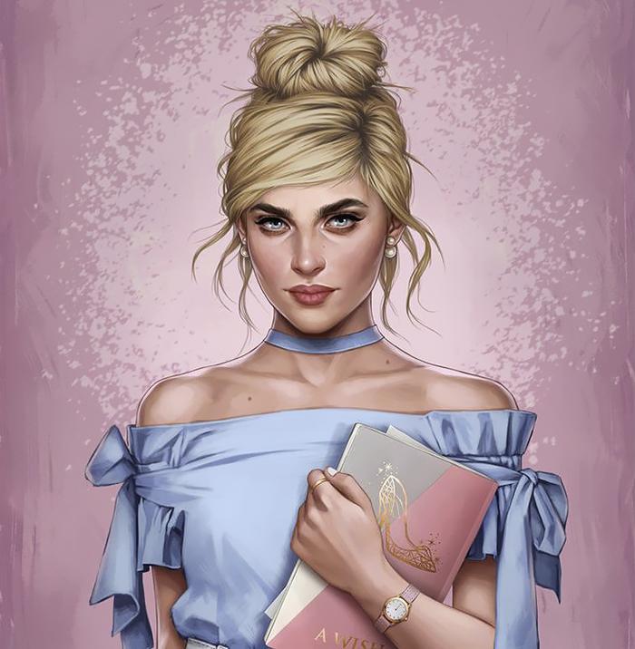 How Disney Princesses Would Look Like If They Lived In 2017 - Cinderella