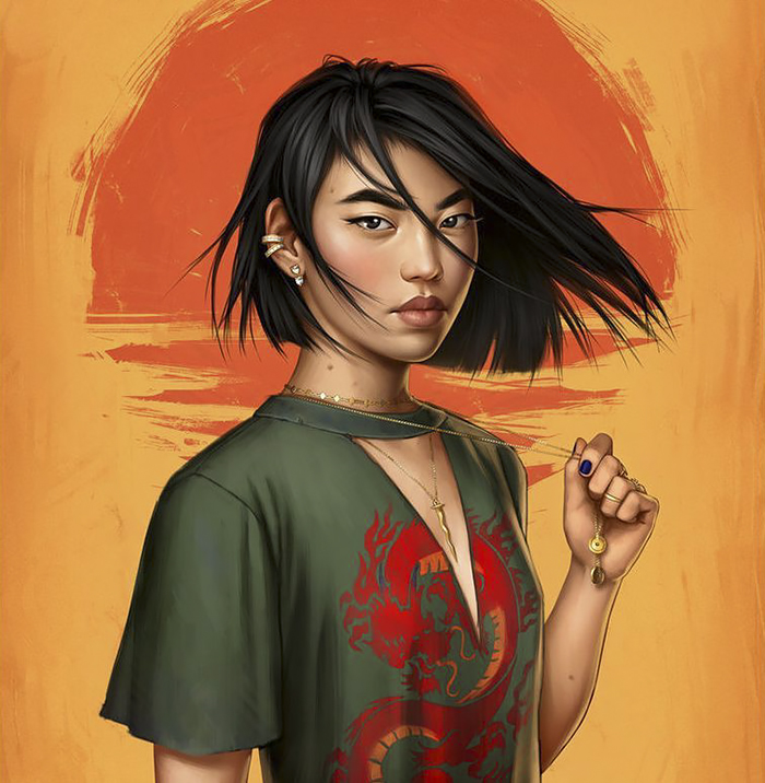 How Disney Princesses Would Look Like If They Lived In 2017 - Mulan