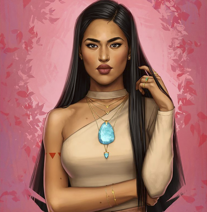 How Disney Princesses Would Look Like If They Lived In 2017 - Pocahontas