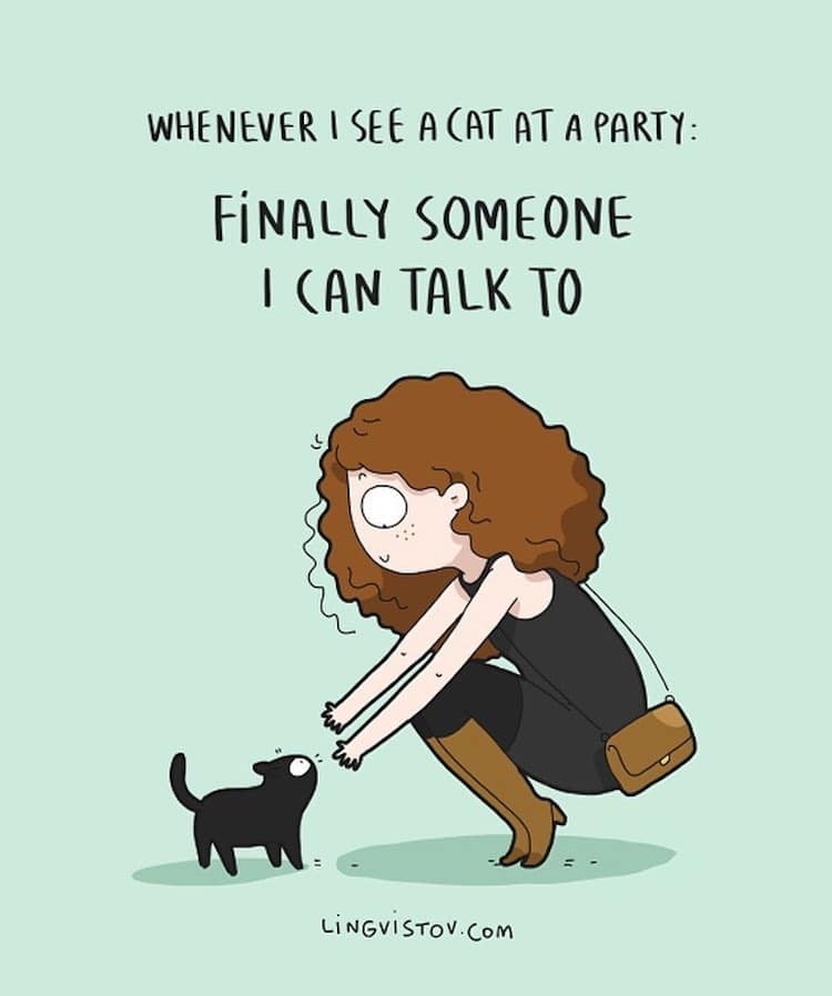 Funny Illustrations Perfectly Show How an Introvert Likes to Spend the Weekend