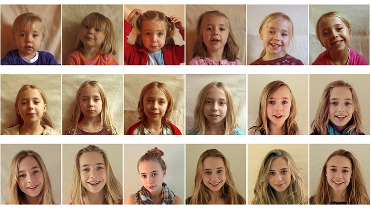 Loving Dad Makes Time-Lapse of Daughter Growing Up From 0 to 18 Years Old